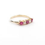 18ct yellow gold antique synthetic ruby and diamond ring
