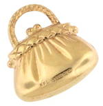 9ct yellow gold 'Handbag' charm
