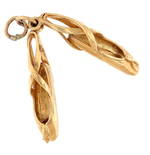 9ct yellow gold 'Ballet shoes' charm