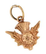 9ct rose gold 'Scotch thistle' charm