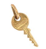 9ct yellow gold 'key' charm