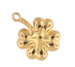 9ct yellow gold clover charm