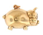 9ct yellow gold 'Pig' charm