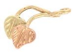 9ct yellow and rose gold 'Leaf' charm