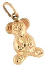 9ct yellow gold 'Teddy' charm