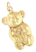 9ct yellow gold 'Teddy Bear' charm