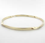 9ct yellow gold twist style bangle