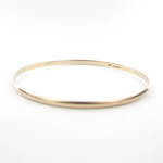 9ct yellow gold thin bangle