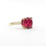 9ct yellow gold synthetic ruby dress ring