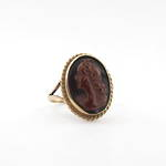 9ct yellow gold vintage cameo dress ring