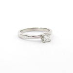 18ct white gold princess cut solitaire ring