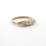 18ct yellow gold antique diamond set ring