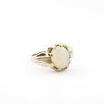 9ct rose gold vintage solid opal ring