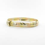 18ct tri-tonal flexible hinged bracelet