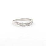 18ct white gold curved diamond set eternity ring