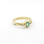 NEW 18ct yellow gold green tourmaline and diamond set ring