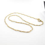 9ct yellow gold fancy twist link chain