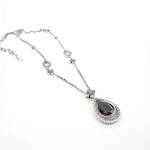 Brand new sterling silver and onyx vintage style pendant and chain