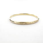 18ct yellow gold patterned hinged bracelet