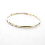 9ct yellow gold patterned thin bangle