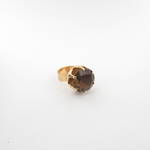 14ct yellow gold smokey quartz ring