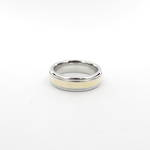 Gents 14ct yellow gold and stainless steel wedding ring