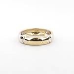 18ct bi-tonal gold diamond set band
