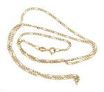 9ct yellow gold figaro link chain