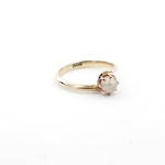 15ct yellow gold pearl set ring