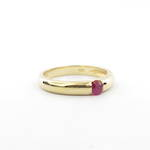 18ct yellow gold solitaire ruby ring