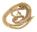 Mens 9ct yellow gold diamond cut chain