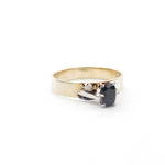 9ct yellow gold sapphire and diamond set vintage ring