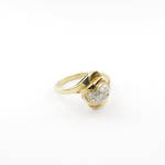 18ct yellow gold diamond set fancy dress ring
