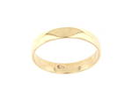 9ct yellow gold band/wedding ring