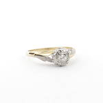 18ct yellow/platinum set diamond solitaire