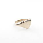 9ct rose gold shield ring