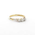 18ct yellow gold x3 diamond ring