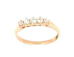 18ct yellow gold x5 stone diamond ring