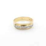 18ct yellow/white gold diamond set band
