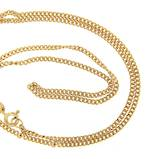 New 9ct yellow gold curb linked chain