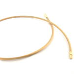 18ct matte yellow gold 'snake style' necklace