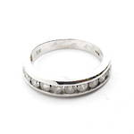10ct white gold diamond set channel ring