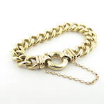 9ct yellow gold heavy curb link bracelet