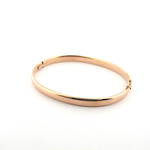 9ct rose gold oval hinged bangle