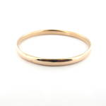 9ct rose gold vintage hollow bangle