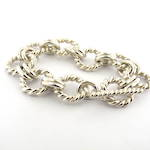 Sterling silver heavy toggle clasp bracelet