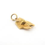 18ct yellow gold Egyptian pharaoh charm