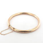 9ct rose gold over silver antique hinged bangle
