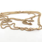 9ct rose gold antique curb link muff chain