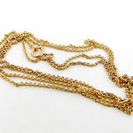 9ct yellow gold antique belcher link muff chain